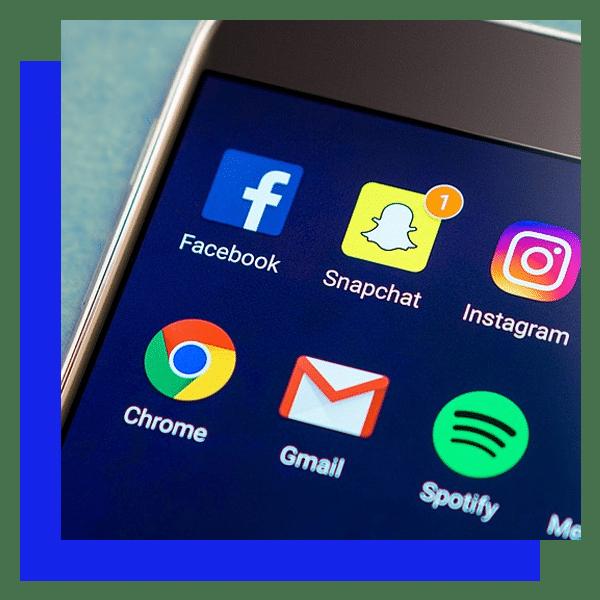 Celular con redes sociales